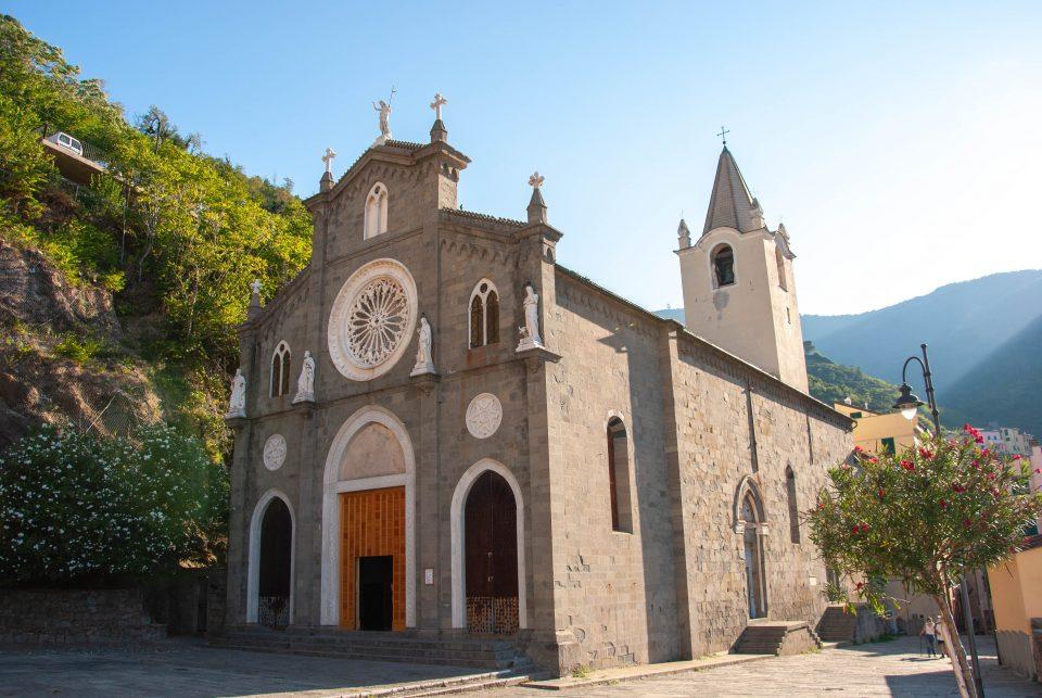 La chiesa parrocchiale di San Giovanni Battista di Riomaggiore