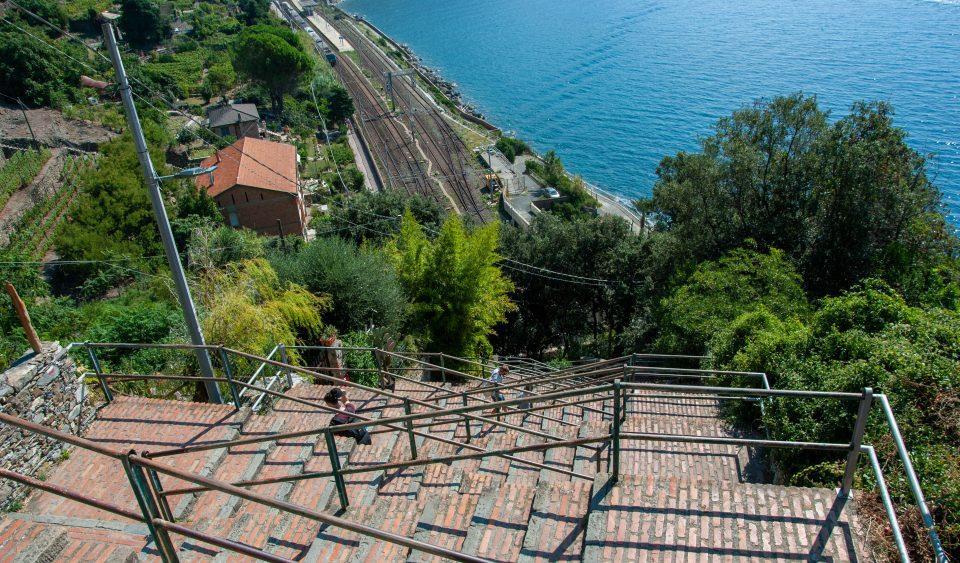 La scala che porta a Corniglia