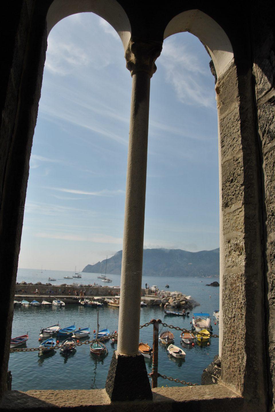 La vista dalla finestra della chiesa di Santa Margherita di Antiochia