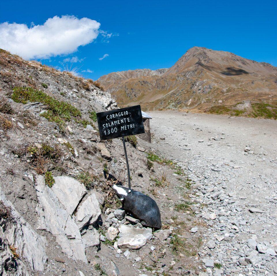 Mancano solo 1300 metri al rifugio Mont Fallère...